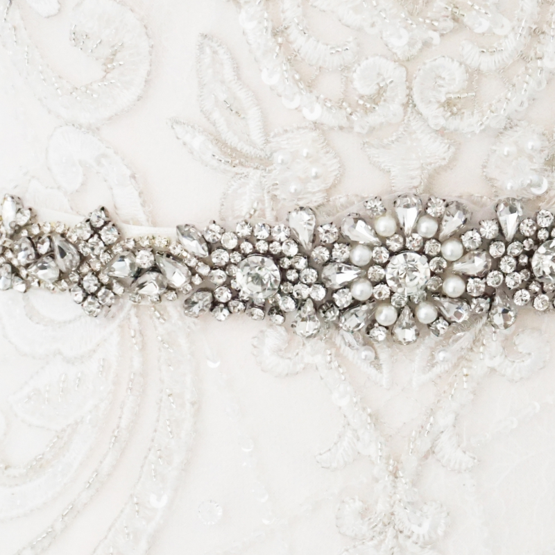 Athena Collection - Luxe Pearl Bridal Belt  27 - Ivory 2