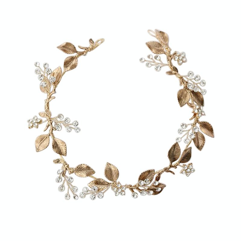Athena Collection Dazzling Luxe Hair Vine - Dark Gold 2