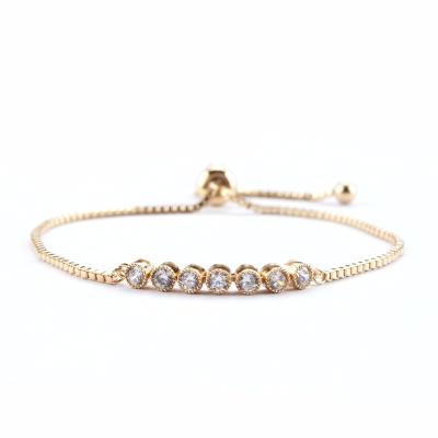 Athena Collection - Dainty Glam Bracelet - Gold - Adjustable 1