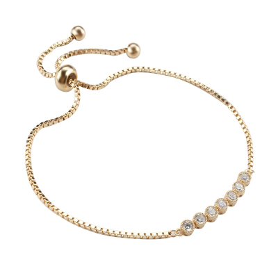 Athena Collection - Dainty Glam Bracelet - Gold - Adjustable 2